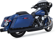Vance And Hines Black Dresser Duals Head Pipes For 17-19 Harley Touring Flhr Flhx