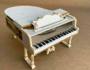 Dollhouse Doll House Grand Piano White Plastic Miniature Vintage Ideal