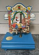 Willitts Snoopy Peanuts Playtime Carousel Music Box Vintage Rare