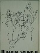 Early Andy Warhol Sketch Prokofiev - The Love For Three Oranges Sc-6013 Box Ex+