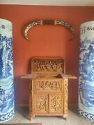 Two Large Asian Antique Floor Vases 7 Feet Tall Vase Hard To Find.