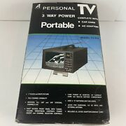 Vintage Alaron Portable 3 Way Power 5andrdquo Bandw Tv Model Tv-626 - New