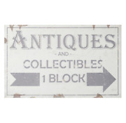 Antiques And Collectibles 1 Block Distressed Sign