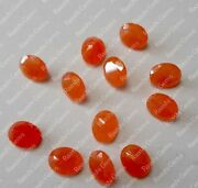 Best Natural Orange Jade 5x7 Mm To 18x25 Mm Oval Faceted Cut Loose Gemstone