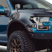 For Ford F-150 17-20 Type-wide Style 4 Wider Gloss Carbon Fiber Front Fenders