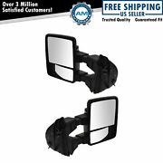Power Heat Fold Smoked Turn Memory Upgrade Towing Mirror Pair For Super Duty