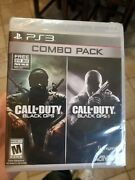 Cod Black Ops 1 2 Combo Pack Ps3 Video Games Brand New Sealed