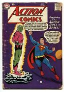 Action 242 Comic Book First Appearance Of Braniac-silver-age G