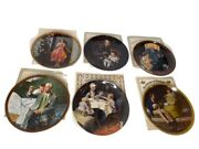 Vintage Set Of 6 Norman Rockwell 9 Inch Decorative Plates