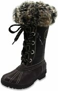 London Fog Womens Melton Cold Weather Waterproof Snow Boot