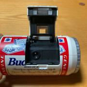 Budweiser Beer Can Vintage Film Camera With Box Rare Flash Is Not Working
