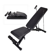 Adjustable Weight Bench Exercise Bench Foldable Full Body Utility Workout Gym