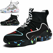 Menand039s Fashion Running Shoes Outdoor High Top Lightweight Sports Tennis Sneakers