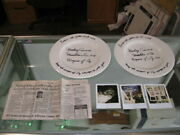 The Wizard Of Oz Mickey Carroll Signed Plates