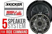 Ssv Works 5 Kicker Speaker Plug-and-play Kit For Polaris Ride Command Systems
