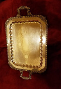 Vintage-f.b. Rogers 8061- Silver On Copper-butlerand039s Tray