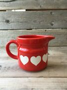 Vintage Relpo Red Pitcher Small Planter Samson Imports Co.