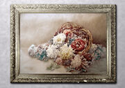 French Watercolor Still Life Of Flowers Juliette Goury Xixth Circa Blanche Odin