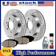 Rear Drilled Brake Rotors Pads For Chevy Tahoe Suburban Silverado Sierra 1500