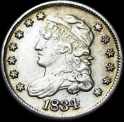 1834 Capped Bust Half Dime Silver ---- Stunning Details Type Coin ---- K450
