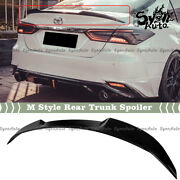 Fits 18-2021 Toyota Camry Se Xse Le Xle Glossy Black M4 Style Trunk Spoiler Wing