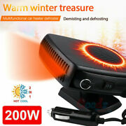 200w Plug In Auto Car Heater Heating Fan Defroster Demister 360° Rotation