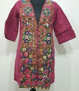 Indian Multi Color Women's Dress Button Closure Half Sleeve For Casual Wear