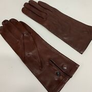 Womenand039s Raf And Army Brown Leather Officers Dress Gloves - Size 6.5 British New