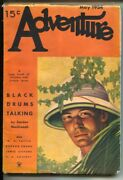 Adventure 5/1934-butterick- Jungle Cover By Duncan Mcmillan-pulp Fiction W.c...