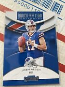 2018 Panini Contenders Josh Allen Rya-ja Rookie Of The Year- Sold As A Lot
