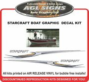 Huge Boat Graphic And Stripe Fits Starcraft Starfire 1600