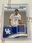 2016 Panini Collegiate Willie Cauley Stein Jersey /99 Silver Sold As Lot