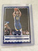 Stephen Curry 2019-20 Panini Contender Front Row Seat Insert Card20/sold As Lot