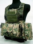 New Outdoor Military Tactical Combat Chest Rig Paintball Airsoft Mag Molle Pouch