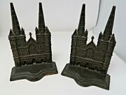 Antique 1928 Lichfield Cathedral Metal Bookends