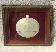 Magnificent Antique Carved Large Size Shell With Religious Scenes - Shadow Box