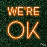 New We're Ok 20x20 Led Flex Wall Sign Color Options And Remote Lf083