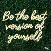 New Be The Best Version Of Yourself 31x24 Led Wall Sign Color Options Lf090
