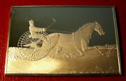Currier And Ives Trotting Stallion Ingot 2.75 Oz.999 Silver By Franklin Mint