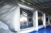 Hot Oxford Cloth Inflatable Spray Painting Booth W/ Filterations And2 Blowers Tent