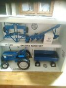 Vintage Ertl 1/16 Deluxe Ford Farm Set W. Tractor Wagon Plow Disc Cow New G17