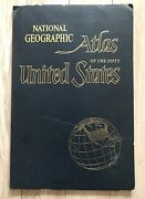 Vintage 1960 National Geographic Atlas Of The Fifty United States Maps 13 X 19