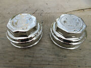Antique 1920s Triple Chrome Plated Cadillac Standard Of The World Grease Caps