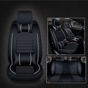 Universal Car Seat Cover Full Set 5-seats Pu Leather Deluxe Protector Cushion