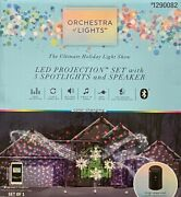 Gemmy Orchestra Of Lights Led Projection Light Set With 3 Spotlights And Speaker