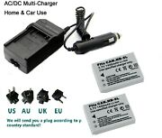 2x Nb-5l Battery And Charger For Canon Powershot Sd790 Sd890 970 Is 980 Sx230 Hs