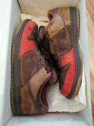 Nike Dunk Low Pro Sb Bison Cinder Brown Red 304292 226 Size Us 11.5 With Box