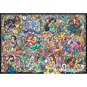 Tenyo Disney Princess Collection 1000 Piece Jigsaw Puzzle , From Japan