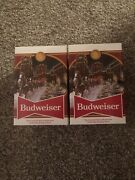2020 Budweiser Holiday Stein 41st Anniversary Edition Brewery Lights Lot Of Two