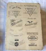 Lithograph Stone-blatz Oconto Eagle Beer Plymouth Brewing + 3 Others